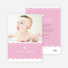 Dove Baptism Invitations - Pink