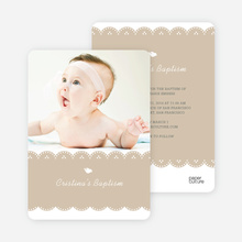 Dove Baptism Invitations - Beige