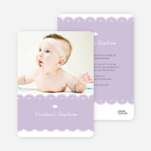 Dove Baptism Invitations - Purple