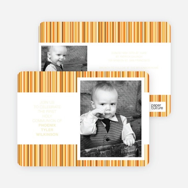 Modern, Photo Holy Communion Invitations - Red