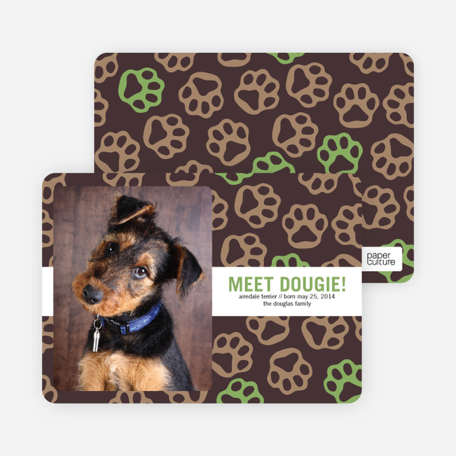 Paws-itively Marvelous Dog Cards - Green