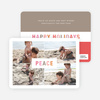 Peace and Happy Holidays Photo Cards - Red