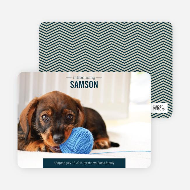 Puppy Announcements - Green