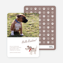 Puppy Dog Paws Pet Cards - Red