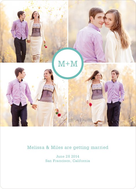 Capture the Memories Save the Date Cards - Green