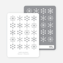 Snowflakes Galore Holiday Cards - Gray