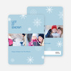 Snowflakes, Snowflakes Holiday Photo Cards - Blue