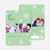 Snowflakes, Snowflakes Holiday Photo Cards - Green