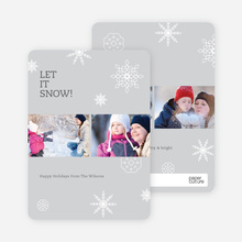 Snowflakes, Snowflakes Holiday Photo Cards - Gray