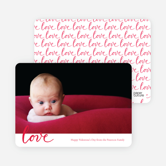 Spread the Love Valentine's Day Photo Cards - Black