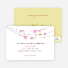 Star Crossed Baby Shower Invitations - Pink