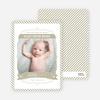 Photo Birth Announcements: Stripe Frame - Beige
