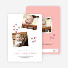 Birth Announcements Full of Love - Pink