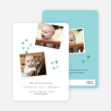 Birth Announcements Full of Love - Blue