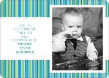 Holy Communion Stripes - Blue