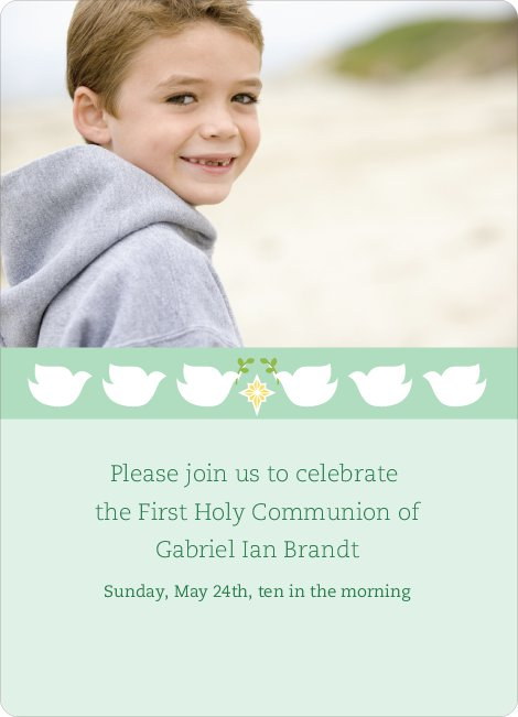 Doves as Messengers Communion Invitations - Green