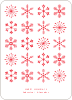 Snowflakes Galore - Red
