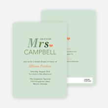 The Future Mrs. Bridal Shower Invitations - Green