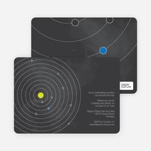 Universe Themed Solar System Birthday Invitations - Black
