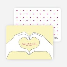 Valentine's Day Hands form the Shape of a Heart - Yellow