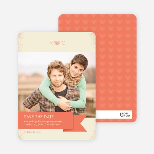 Vintage Save the Date Cards - Orange