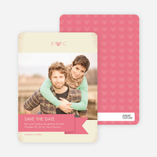 Vintage Save the Date Cards - Pink