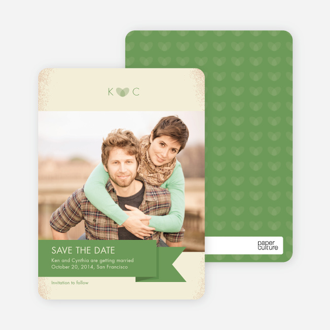 Vintage Save the Date Cards - Green