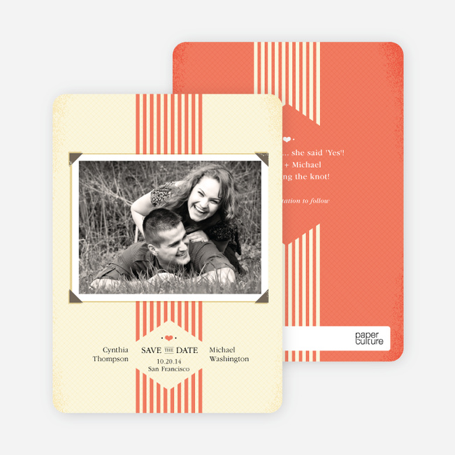 Wedding Album Save the Date Cards - Orange