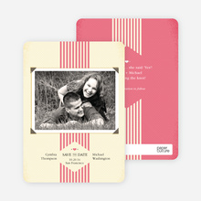 Wedding Album Save the Date Cards - Pink