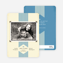 Wedding Album Save the Date Cards - Blue