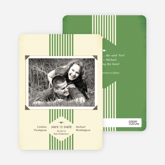 Wedding Album Save the Date Cards - Green