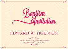 Sun Rays Baptism Invitations - Red