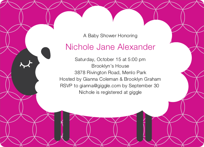 sheep themed baby shower invitations | paper culture, Baby shower invitations