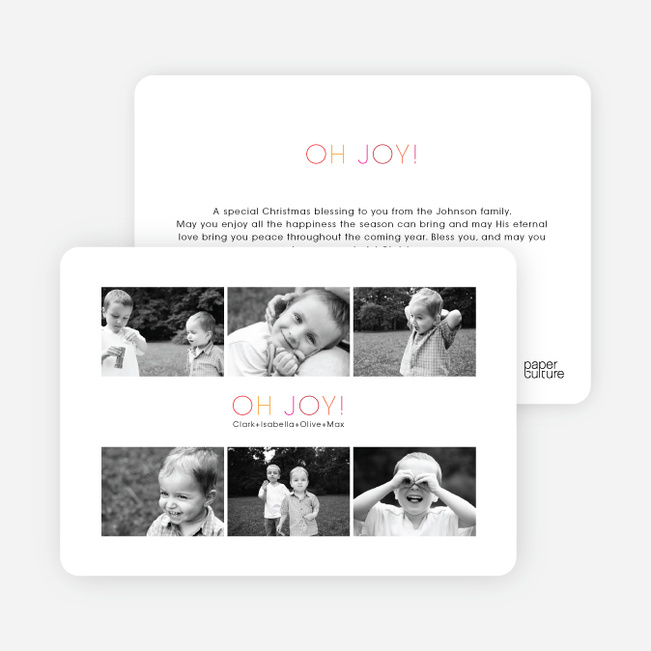 6 Photos in One Holiday Photo Card - Amethyst