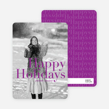 A Simple Happy Holidays - Magenta