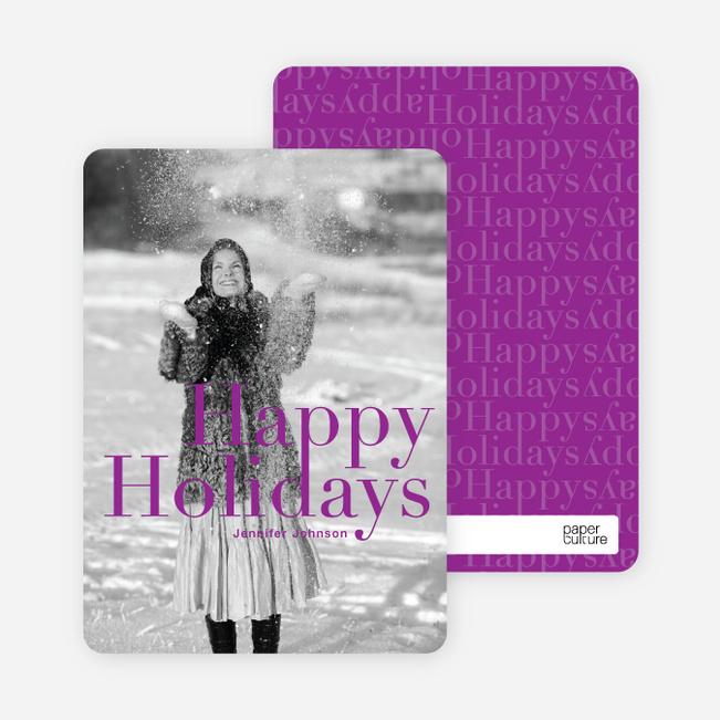 A Simple Happy Holidays - Magenta
