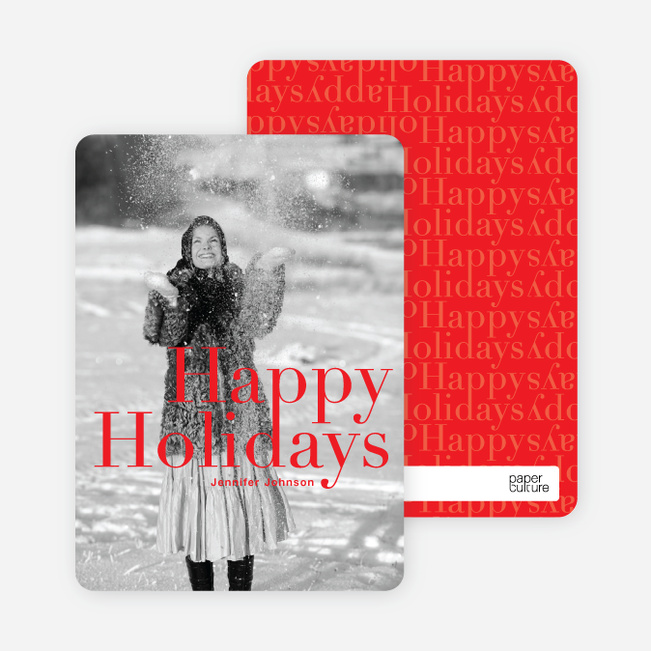 A Simple Happy Holidays - Cardinal Red