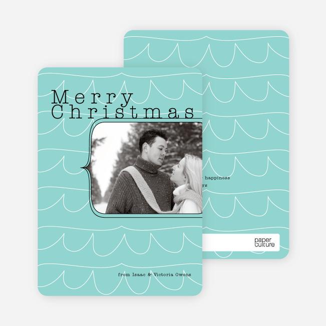 Abstract Christmas Tree Card - Aquarmarine