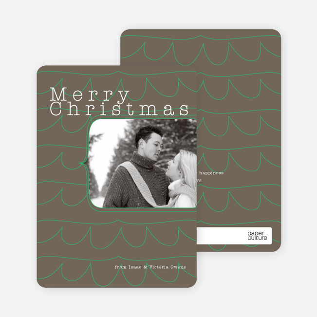 Christmas Tree Cards: Abstract - Espresso