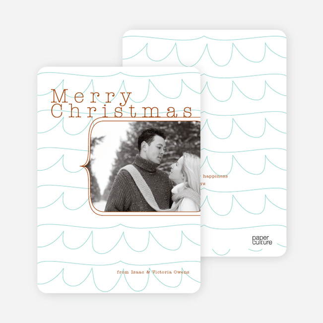 Abstract Christmas Tree Card - White
