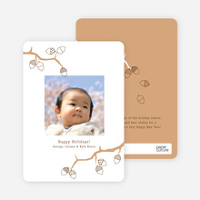 Acorns and the Circle of Life Holiday Photo Cards - Caramel