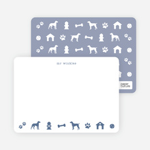 Dog Stationery - Blue