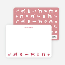 Dog Stationery - Red