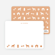 Dog Stationery - Orange