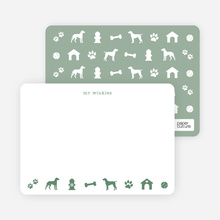 Dog Stationery - Green