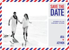 Air Mail Save the Date - Red Candy