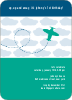 Airplane Birthday Invitation - Azure Blue