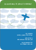 Airplane Birthday Invitation - Royal Blue