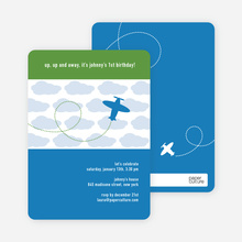 Airplane Birthday Invitation - Royal Blue