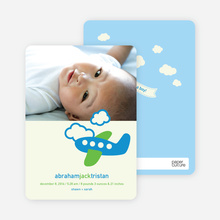 Photo Baby Announcements: Airplane Theme - Shamrock
